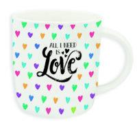 """Buongiorno Mug """"ALL I NEED IS LOVE"""""""