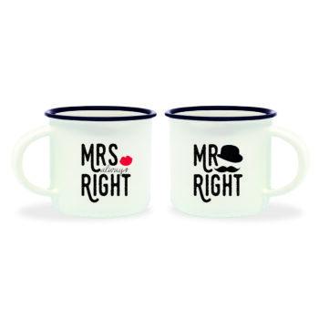 """Espresso Tas """"Mr. & Mrs. Right"""""""